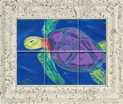 Sea Turtle Tile Art - FishZizzle