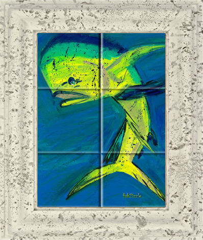 Mahi Mahi Fish Tile Art - FishZizzle