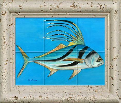Rooster Fish Tile Art - FishZizzle