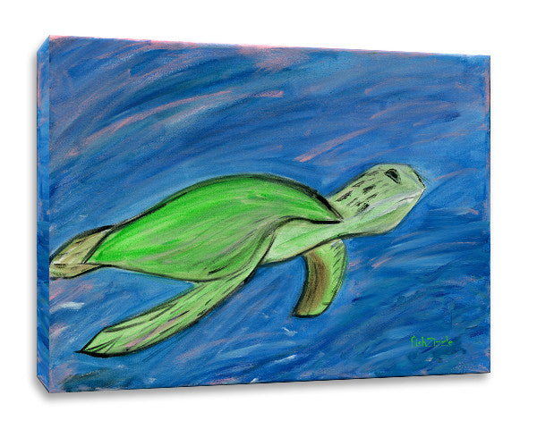 Turtle Canvas Art - FishZizzle