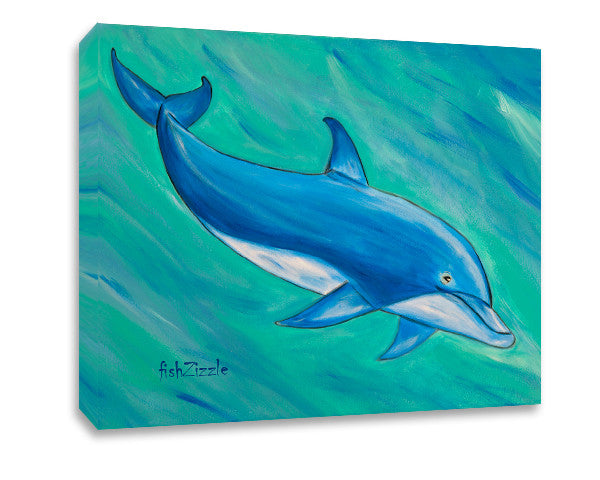 Dolphin Canvas Art - FishZizzle