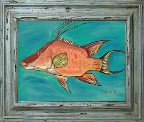 Hog Fish Tile Art - FishZizzle