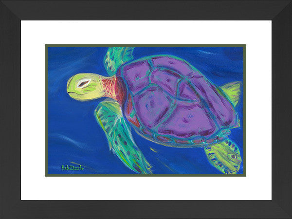 Sea Turtle Art Framed - FishZizzle
