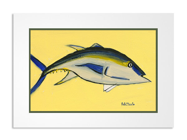 Blackfin Tuna Fish Art Print - FishZizzle