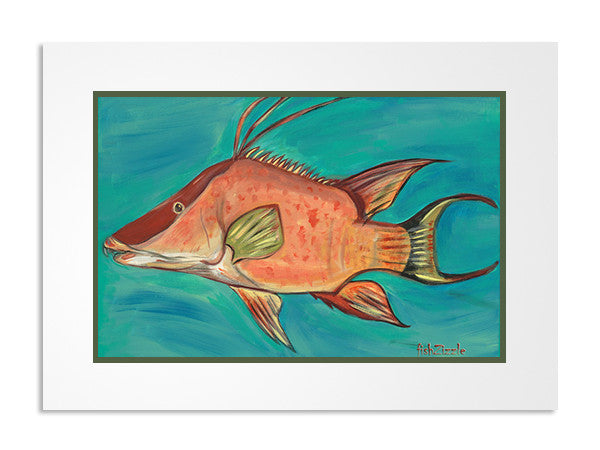 Hog Fish Art Print - FishZizzle