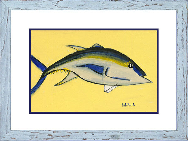 Blackfin Tuna Fish Art Framed - FishZizzle