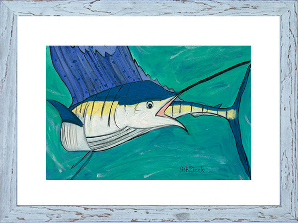 Blue Marlin Fish Art Framed - FishZizzle