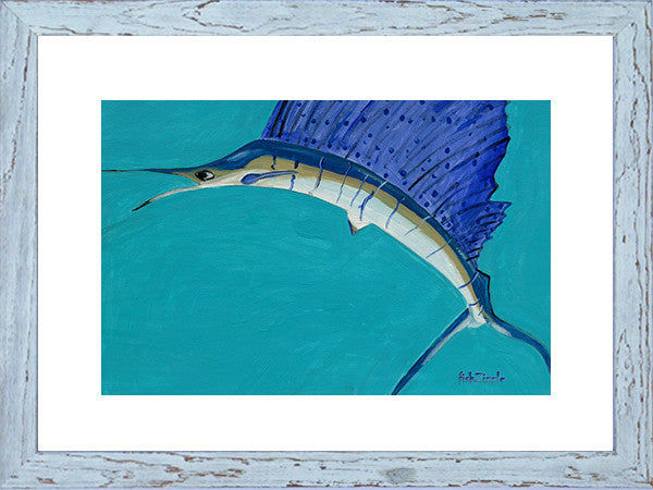 Sailfish Art Framed - FishZizzle