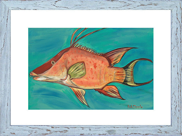 Hog Fish Art  Framed - FishZizzle