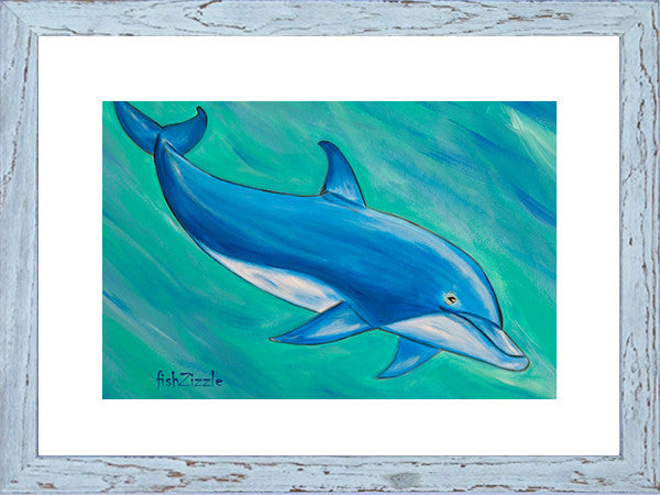 Dolphin Art Framed - FishZizzle