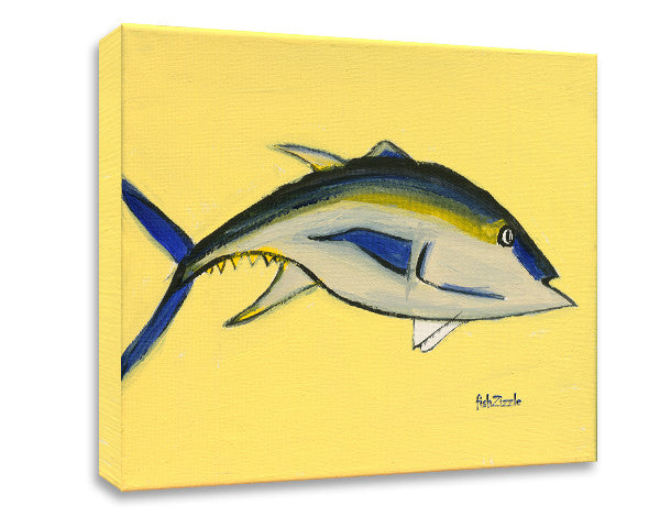 Blackfin Tuna Fish Canvas Art - FishZizzle