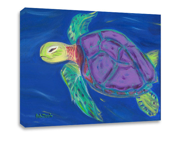 Sea Turtle Canvas Art - FishZizzle