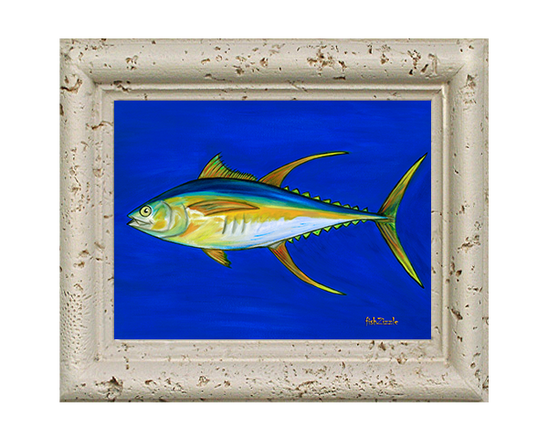 Yellowfin Tuna Fish Tile Art - FishZizzle