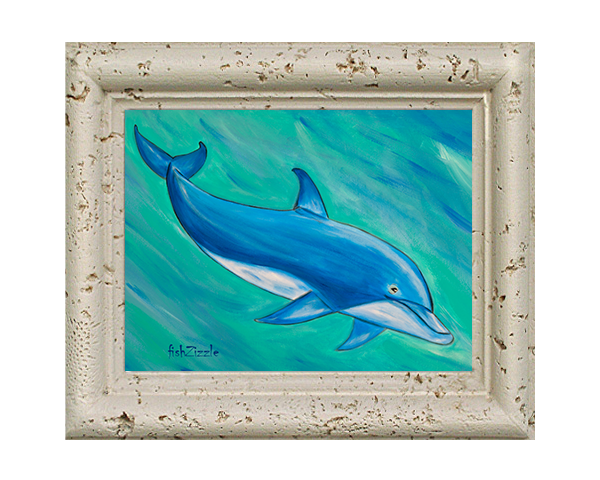 Dolphin Tile Art - FishZizzle