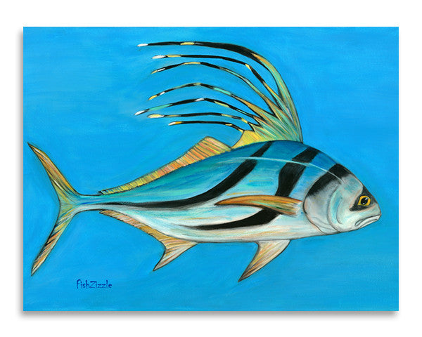Rooster Fish Art Print - FishZizzle