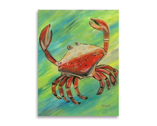 Crab Art Print - FishZizzle