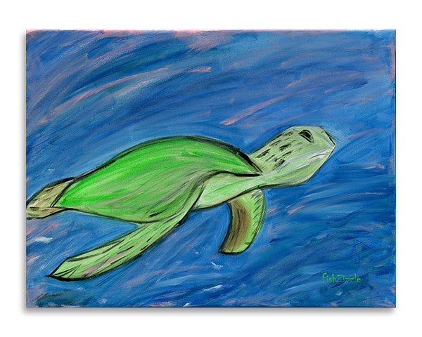 Sea Turtle Art Print - FishZizzle