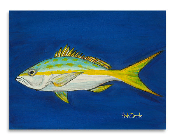Yellowtail Fish Art Print - FishZizzle