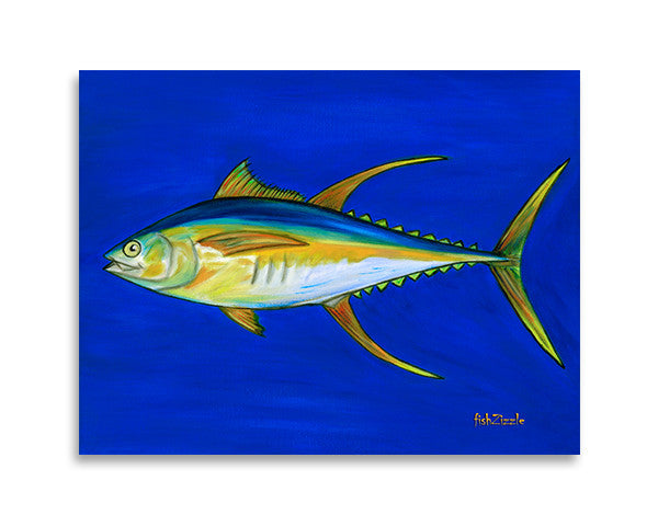 Yellowfin Tuna Fish Art Print - FishZizzle