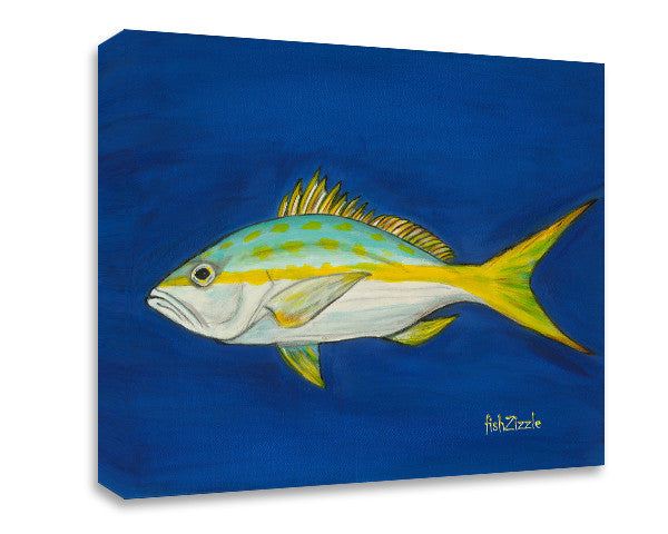 Yellowtail Snapper Canvas Art - FishZizzle