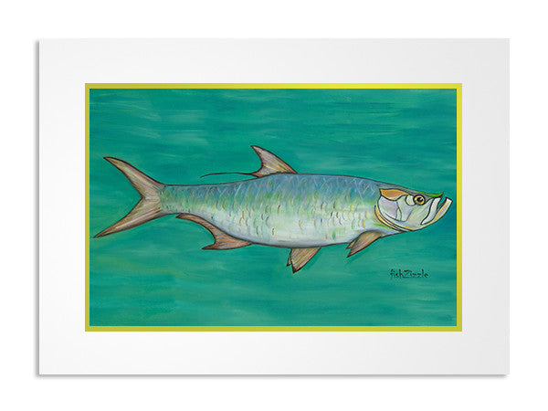 Tarpon Fish Art Print - FishZizzle
