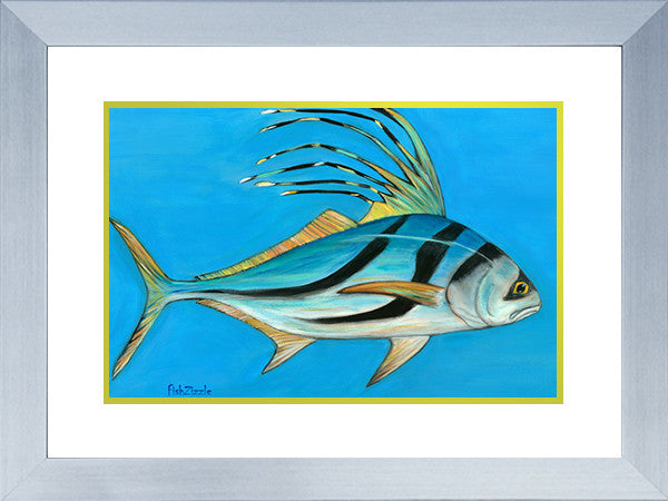 Rooster Fish Art Framed - FishZizzle