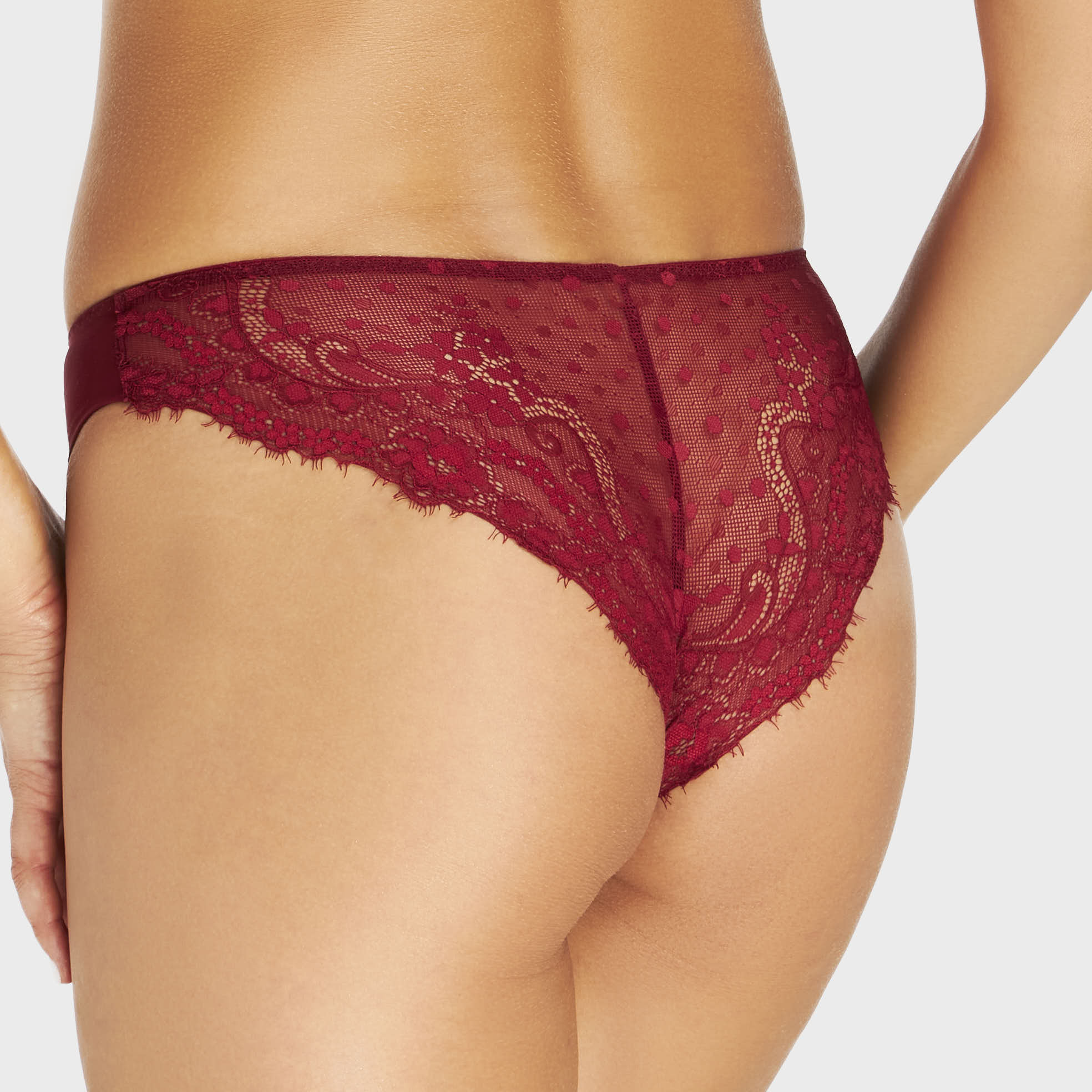 Rose Red lace bikini panty
