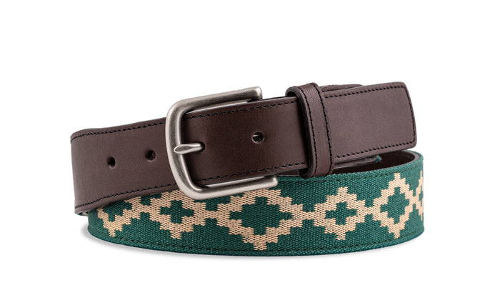 Custom Bariloche Chocolate Leather Woven Belt