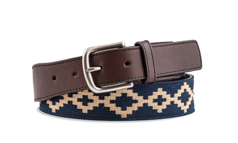 Custom Corbina Chocolate Leather Woven Belt