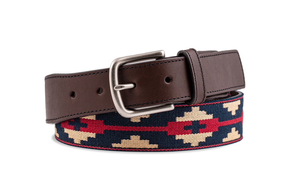 Custom Lago Carrera Chocolate Leather Woven Belt