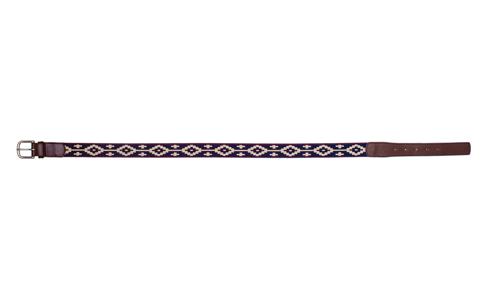 Custom Paloma Chocolate Leather Woven Belt
