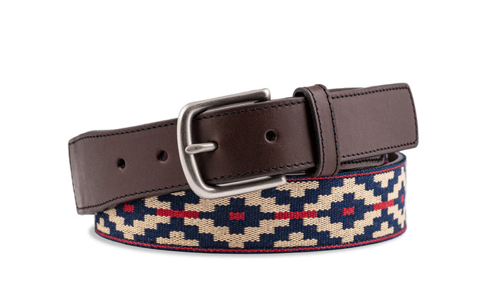 Custom Trucha Chocolate Leather Woven Belt