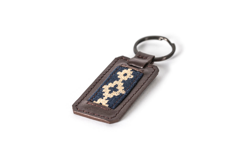 Fangio Keychain - Dark Brown