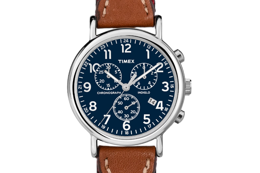 Alvear Chronograph Watch - Navy Face