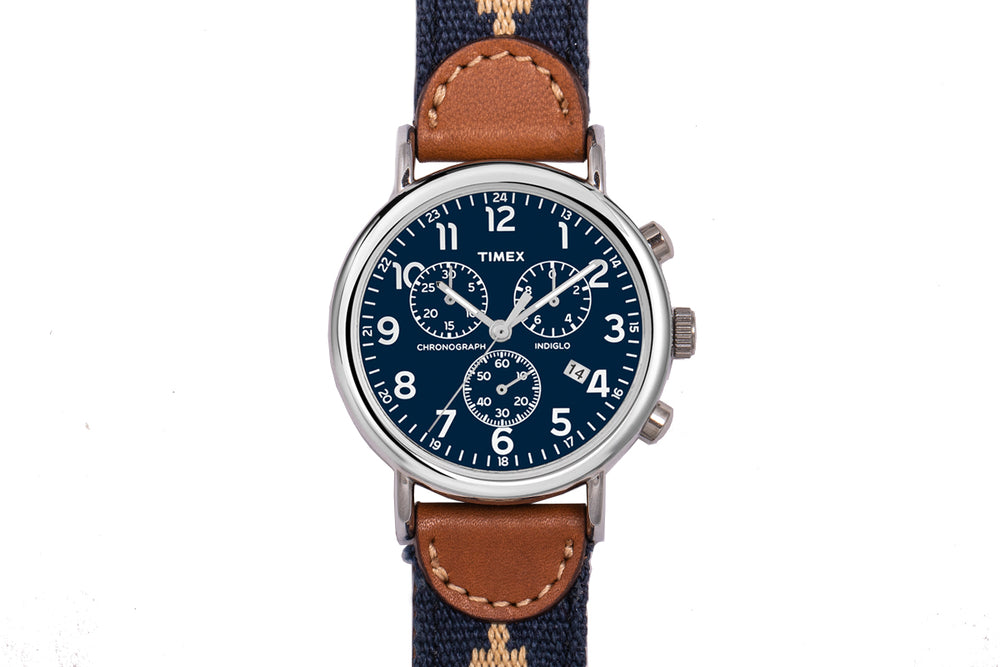 Corbina Chronograph Watch - Navy Face