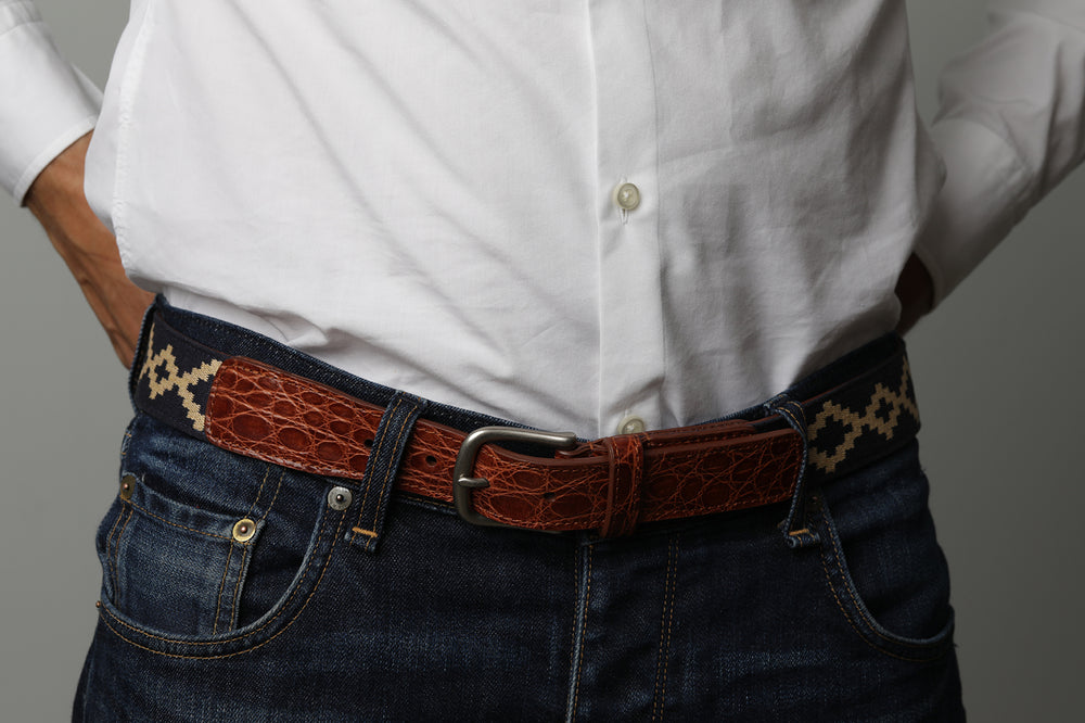 Corbina Crocodile Belt