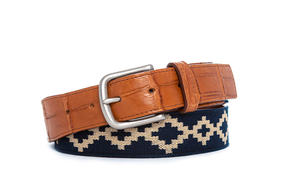 Corbina Alligator Woven Belt