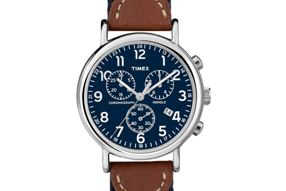 Alvear Green Chronograph Watch - Navy Face