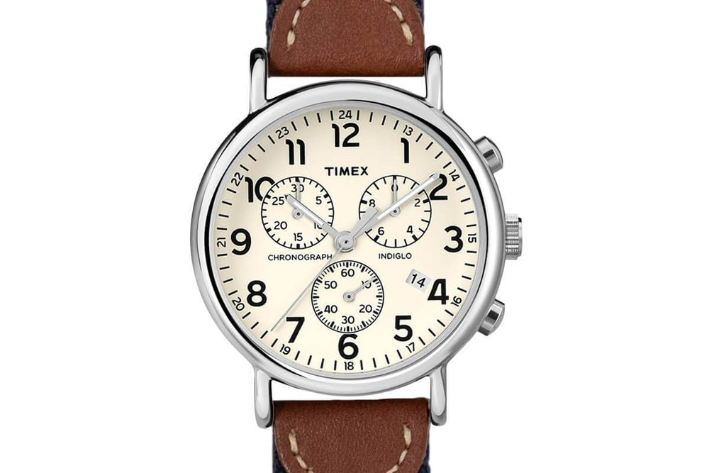 Alvear Green Chronograph Watch - White Face