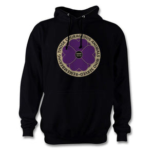 """Remembering the Animals 365 Days "" Purple Poppy Hoodie"