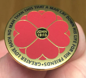 """LEST WE FORGET 365 DAYS"" Poppy Badge"