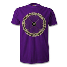 "Load image into Gallery viewer, ""Remembering the Animals 365 Days "" Purple Poppy T Shirt"