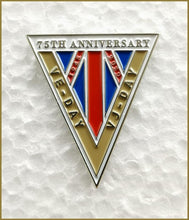 Load image into Gallery viewer, VE/VJ Day 75th Commemoration and Celebration (limted editon collectors badge)