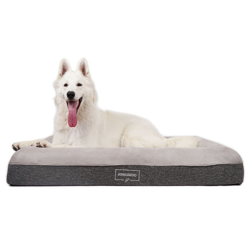 Kangaroo Dog Bed Orthopedic Memory Foam Luxury Large with Oakley