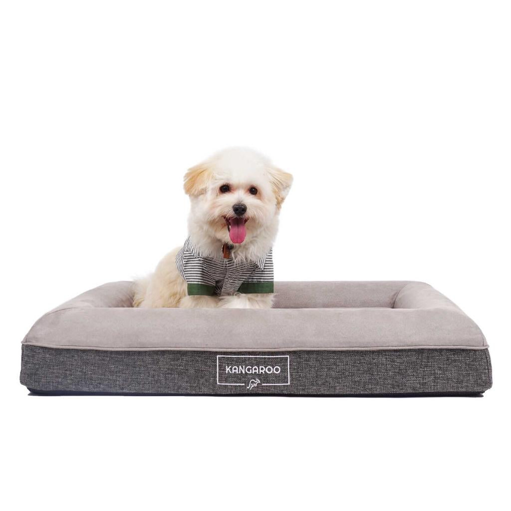 Kangaroo-Dog Bed Orthopedic Memory Foam Luxury bed Small with Benji