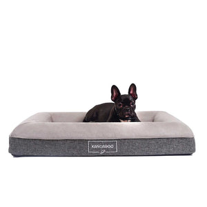 Kangaroo Dog Bed Orthopedic Memory Foam Luxury bed Small with Penny Frenchy