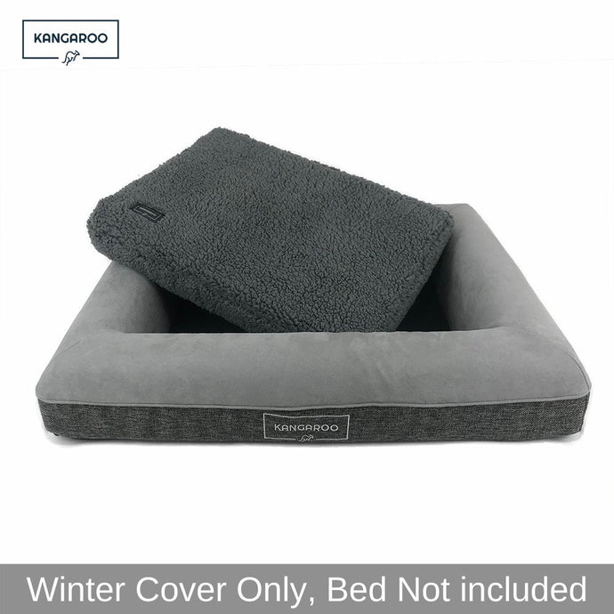 Kangaroo dog bed with winter cover and self heating mat
