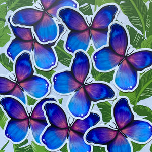 Load image into Gallery viewer, Holographic Purple Butterfly Sticker