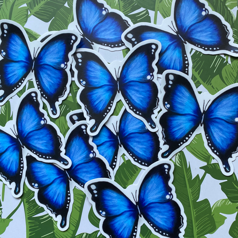 Load image into Gallery viewer, Blue Butterfly Sticker