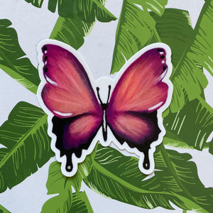 Load image into Gallery viewer, Pink Butterfly Sticker